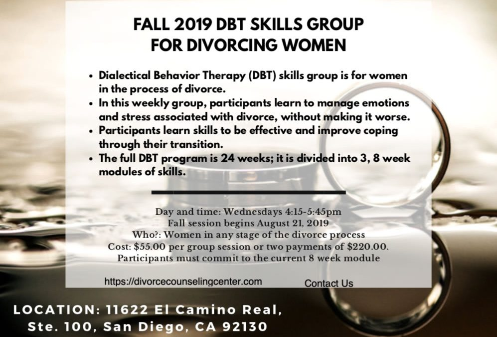 Fall 2019 DBT Skills Group for Divorcing Women